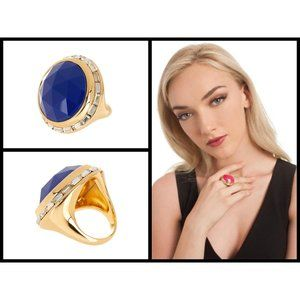 💕TRINA TURK💕 Domed Stone Bezel Set Crystal Ring